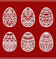 a set of templates for laser cutting easter eggs vector image