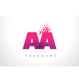 aa a letter logo with pink purple color