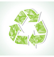 Abstract triangle recycle icon vector image
