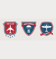 airplane tours and aviation badges vector image vector image