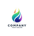 awesome gradient flame logo design vector image vector image