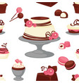 bakery and cakes baked culinary products seamless vector image vector image