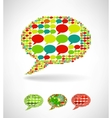 Big speech bubble made from small bubbles vector image vector image