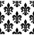 black and white fleur-de-lis seamless pattern vector image vector image