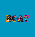boat concept word art vector image