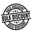 bulk discount round grunge black stamp vector image vector image