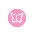 butterfly breast cancer awareness icon vector image vector image