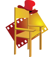 Chair with hat vector image
