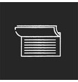 checkbook chalk white icon on black background vector image