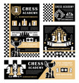chess pieces sport game trophies boards clock vector image