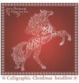 Christmas lace card vector image vector image