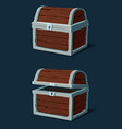 closed wooden crate chest or pirate dower vector image vector image
