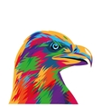 colorful eagle drawing icon vector image