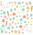 colorful easter pattern vector image