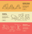 construction machinery banners building industry vector image vector image