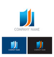 document square business logo vector image vector image