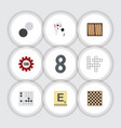 flat icon entertainment set of guess ace chess vector image vector image