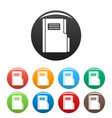 folder icons set color vector image