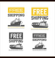 free shipping design template shipping and vector image