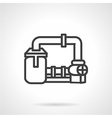 Gas transmission system icon vector image vector image