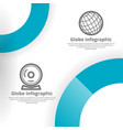 globe infographic background design vector image