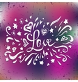 Happy Valentines card with lettering text love on vector image vector image