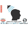 Head Shower Flat Icon With 2017 Bonus Trend vector image vector image