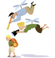 Helicopter parenting vector image vector image