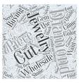 jewelry wholesale diamonds Word Cloud Concept vector image vector image