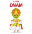 kathakali dancer happy onam festival vector image