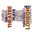 london theatre text background word cloud concept vector image vector image