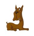 lying dog vector image