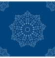 mandala on background seamless pattern vector image