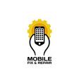 Mobile repair logo vector image vector image