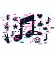 music background musical sign modern vector image vector image