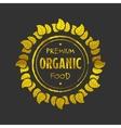 Organic food golden icon vector image vector image