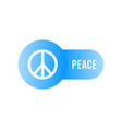 peace icon peace symbol minimal design vector image