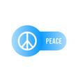 peace icon symbol minimal design vector image