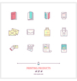 Printing Products Line Icons Set vector image vector image