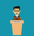public speaker politician on the tribune vector image