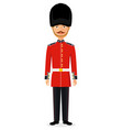 queens guard man vector image vector image