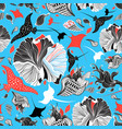 seamless abstract marine pattern with rays vector image