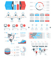 Set of Infographic Elements and Objects for vector image vector image