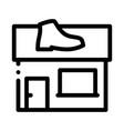 shoe repair build icon outline vector image vector image