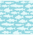 silhouettes of river fishes - textile print vector image