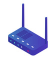 smart home equipment wifi router wlan system vector image