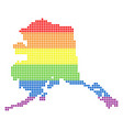 spectrum dotted lgbt alaska map vector image vector image