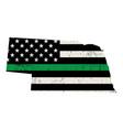 state nebraska military support american flag
