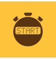 The start stopwatch icon Clock and watch timer vector image vector image