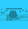 united states reno nevada winter holidays vector image